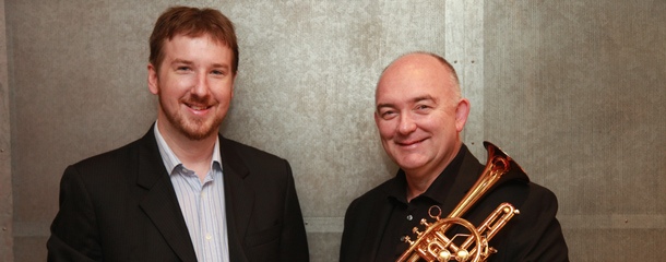 Matthew Dewey with world renowned trumpeter James Morrison